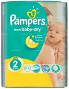 2 Pampers New Baby Mini 3-6 кг 17шт.