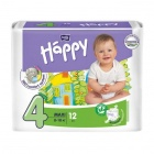 Подгузники Happy Bella № 4 8-18кг. 12шт.