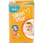 3 Pampers Sleep&Play Midi (4-9 кг) 16 шт.
